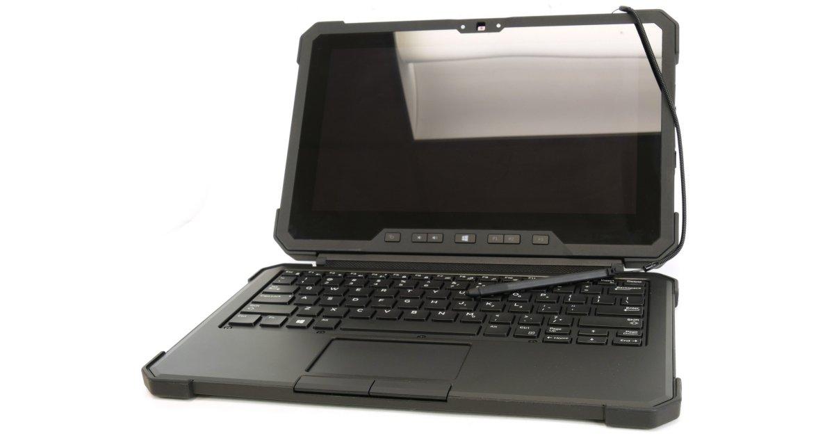 تبلت ویندوزی دل - تبلت نظامی  Dell Latitude 12 Rugged Tablet 7202