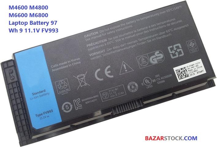 باتری لپ تاپ دل DELL BATTERY M6800 M4700 M4800