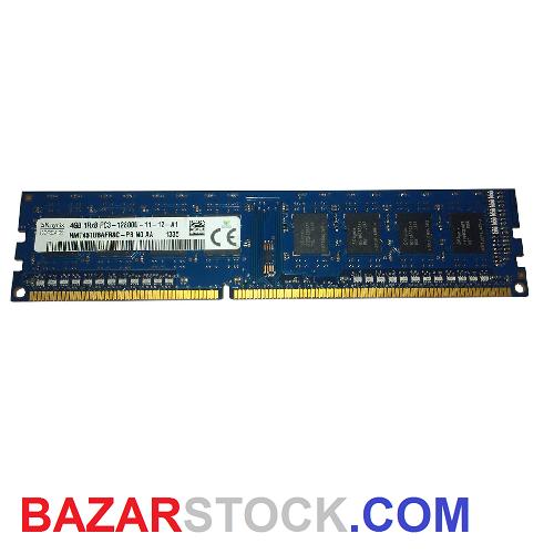 رم دسکتاپ DDR3 تک کاناله 1600مگاهرتز CL11 اس کی هاینیکس مدل 12800 ظرفیت 8 گیگابایت