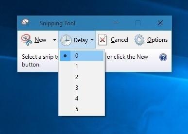 ابزار Snipping Tool  در ویندوز 10