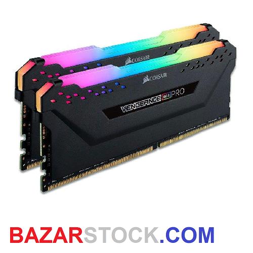رم دسکتاپ DDR4 دو کاناله 3200 مگاهرتز CL16 کورسیر مدل VENGEANCE RGB PRO ظرفیت 32 گیگابایت