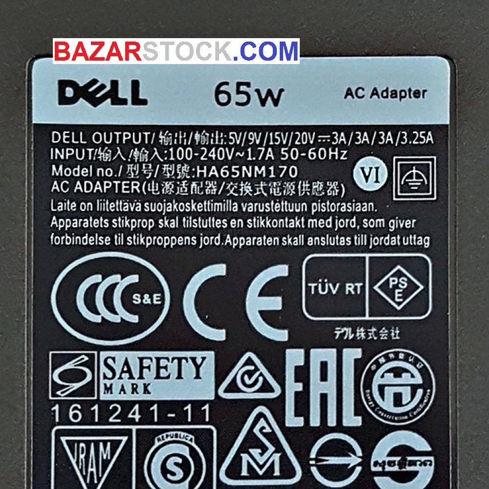 آداپتور تبلت-موبایل-لپ تاپ دل 20V 3.25A-15V 3A-9V 3A-5V 3A Type C اورجینال