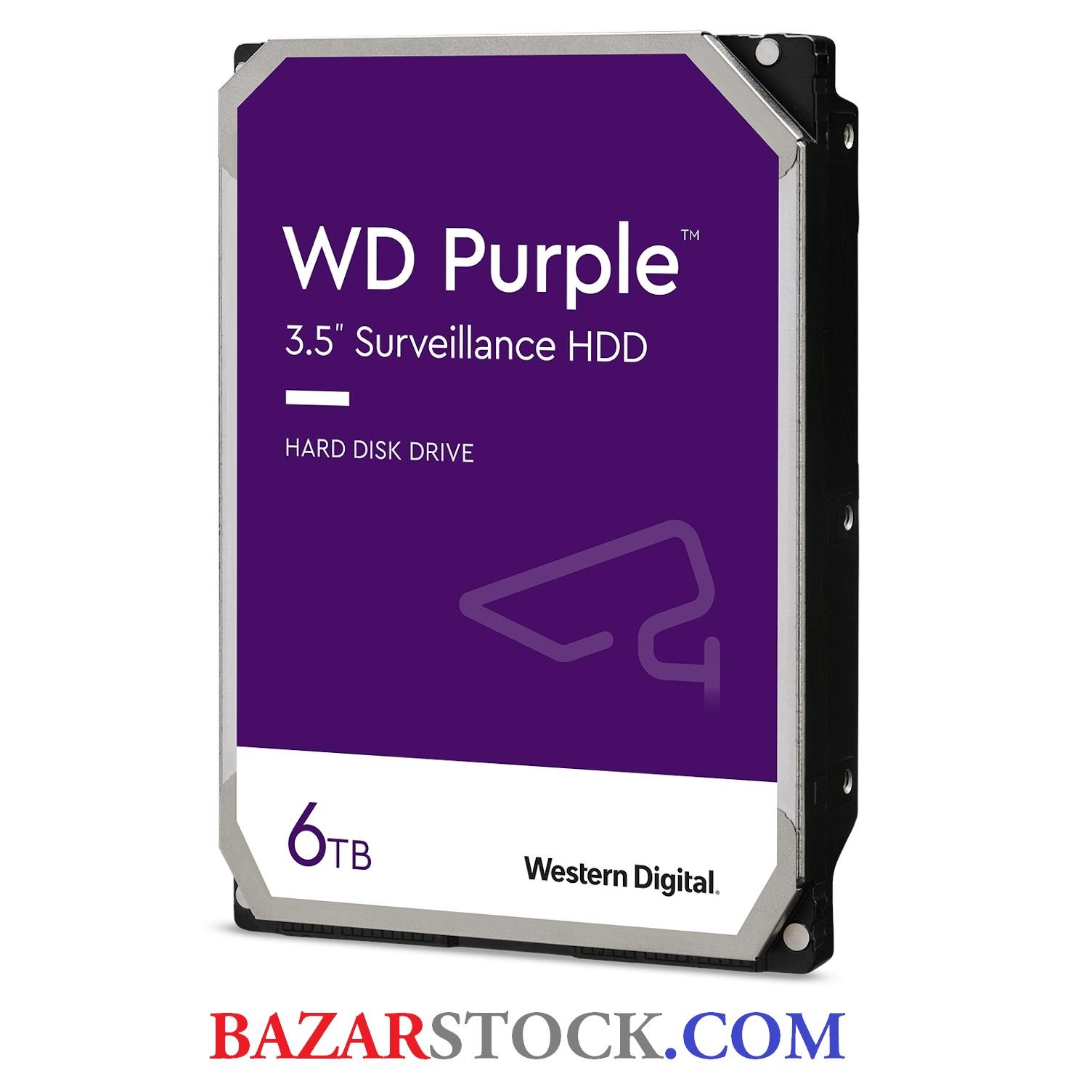 هارد اینترنال 6 ترابایت وسترن دیجیتال WD62PURZ  6TB